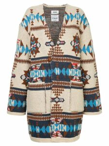 COOHEM native jacquard coat - Brown