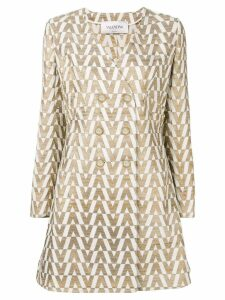 Valentino jacquard knit brocade coat - Gold