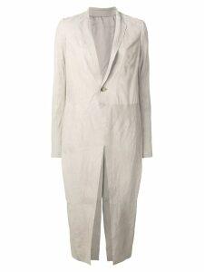 Rick Owens longline coat - Neutrals