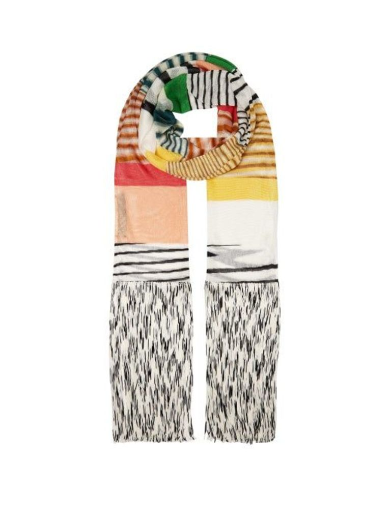 Missoni - Striped Fine Knit Scarf - Womens - Multi