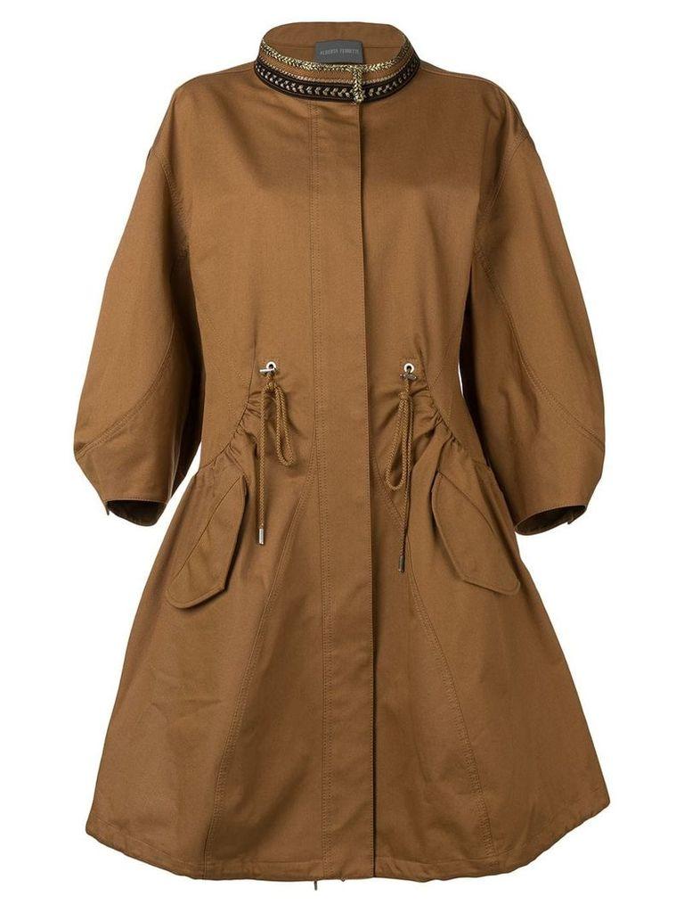 Alberta Ferretti oversized coat - Brown