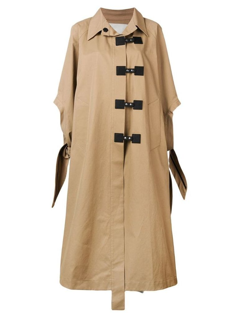 Walk Of Shame oversized swing coat - Neutrals