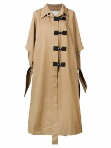 Walk Of Shame oversized swing coat - Neutrals