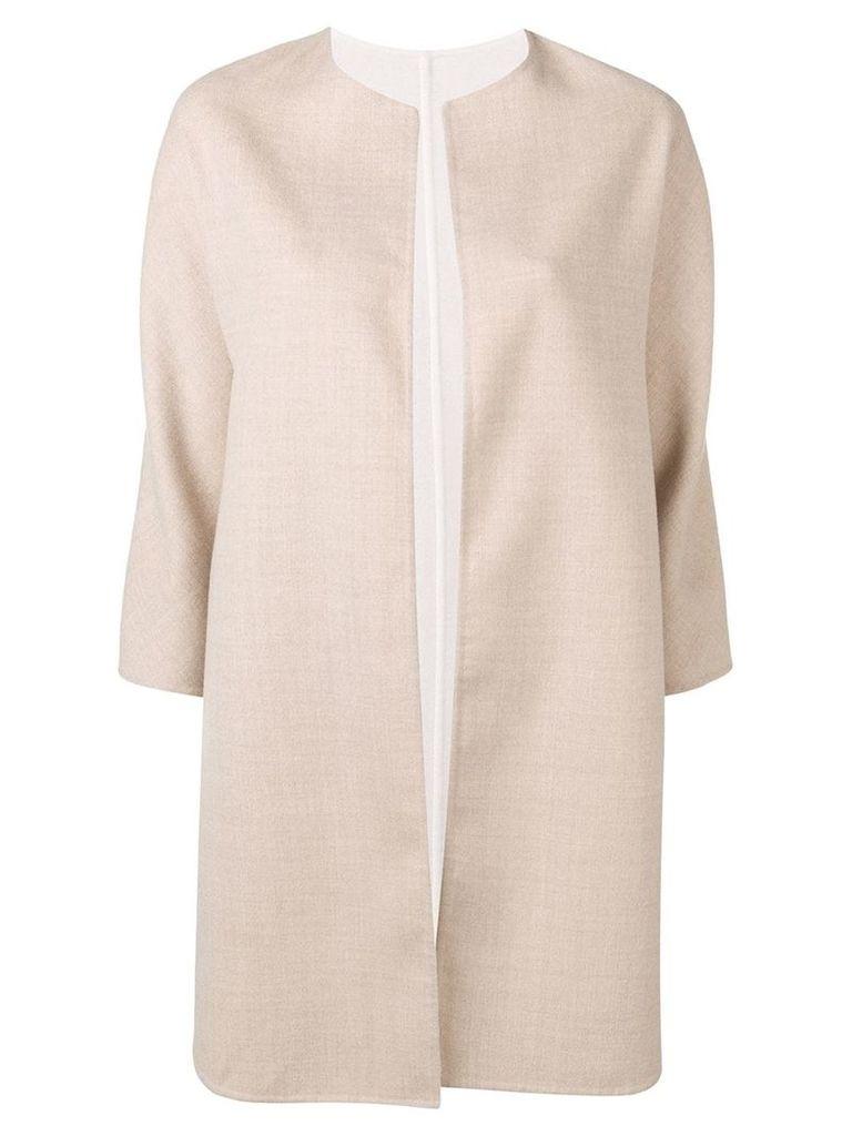 Manzoni 24 three-quarter sleeve coat - Neutrals