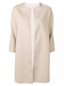 Manzoni 24 three-quarter sleeve coat - Neutrals