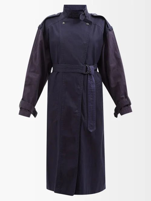 Chloé - Baroque Logo Print Silk Scarf - Womens - Red