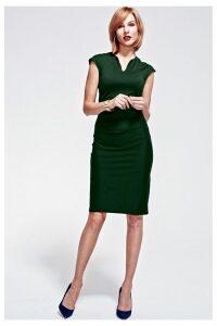 Womens HotSquash Green Kensington V Cut Dress -  Green