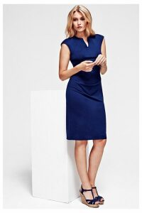 Womens HotSquash Navy Kensington V Cut Dress -  Blue