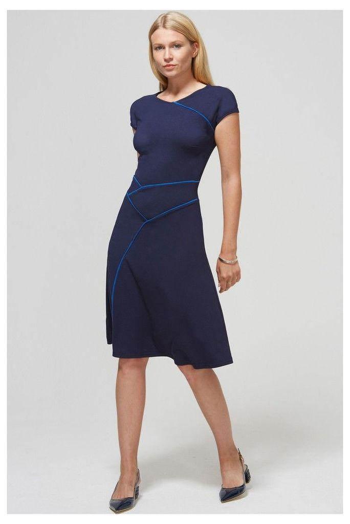 Womens HotSquash Navy Circular Seam Dress -  Blue