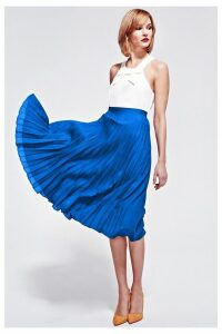 Womens HotSquash Cobalt Sunray Pleat Skirt -  Blue