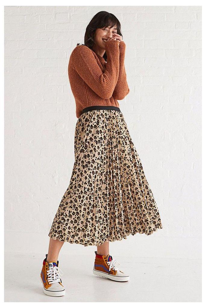 Womens Oliver Bonas Leopard Animal Flash Colour Skirt -  Animal