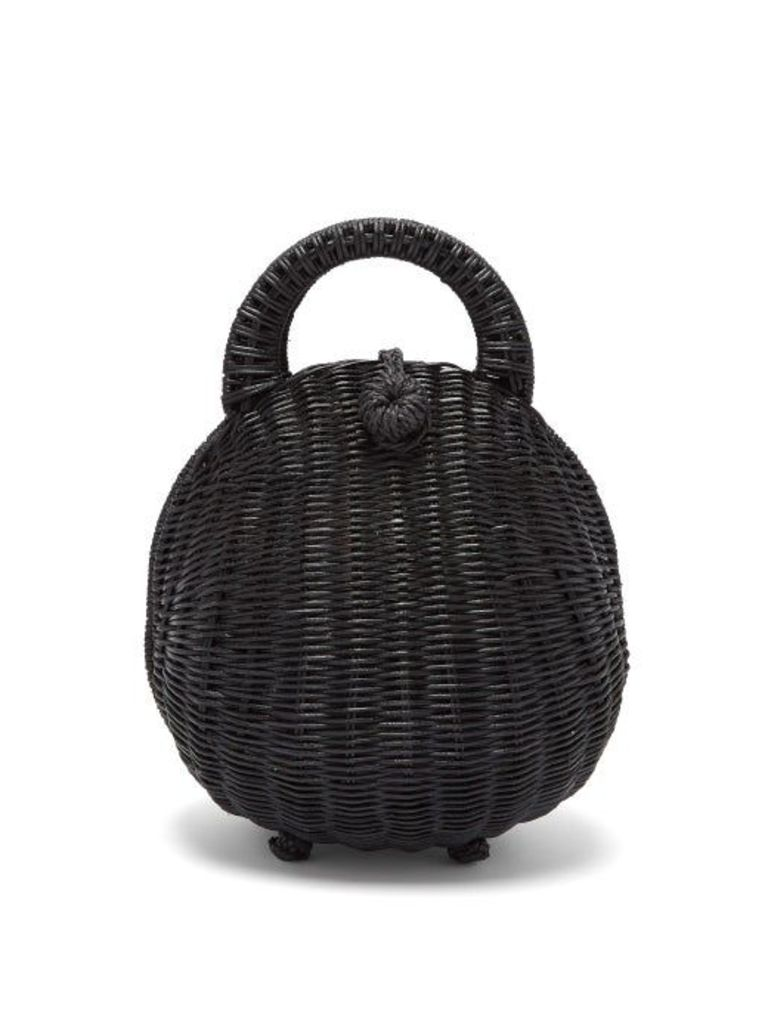 Cult Gaia - Millie Rattan Top Handle Basket Bag - Womens - Black
