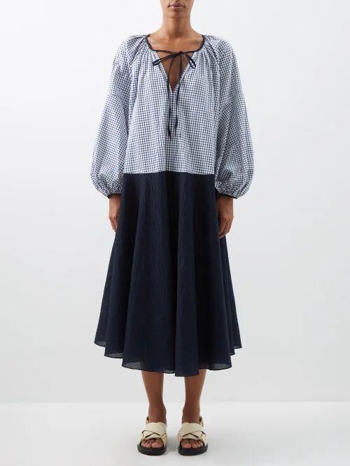 Isabel Marant - Nasko Python Effect Leather Cross Body Bag - Womens - Grey Multi