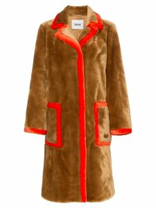 Stand chantal faux fur trimmed teddy coat - Brown