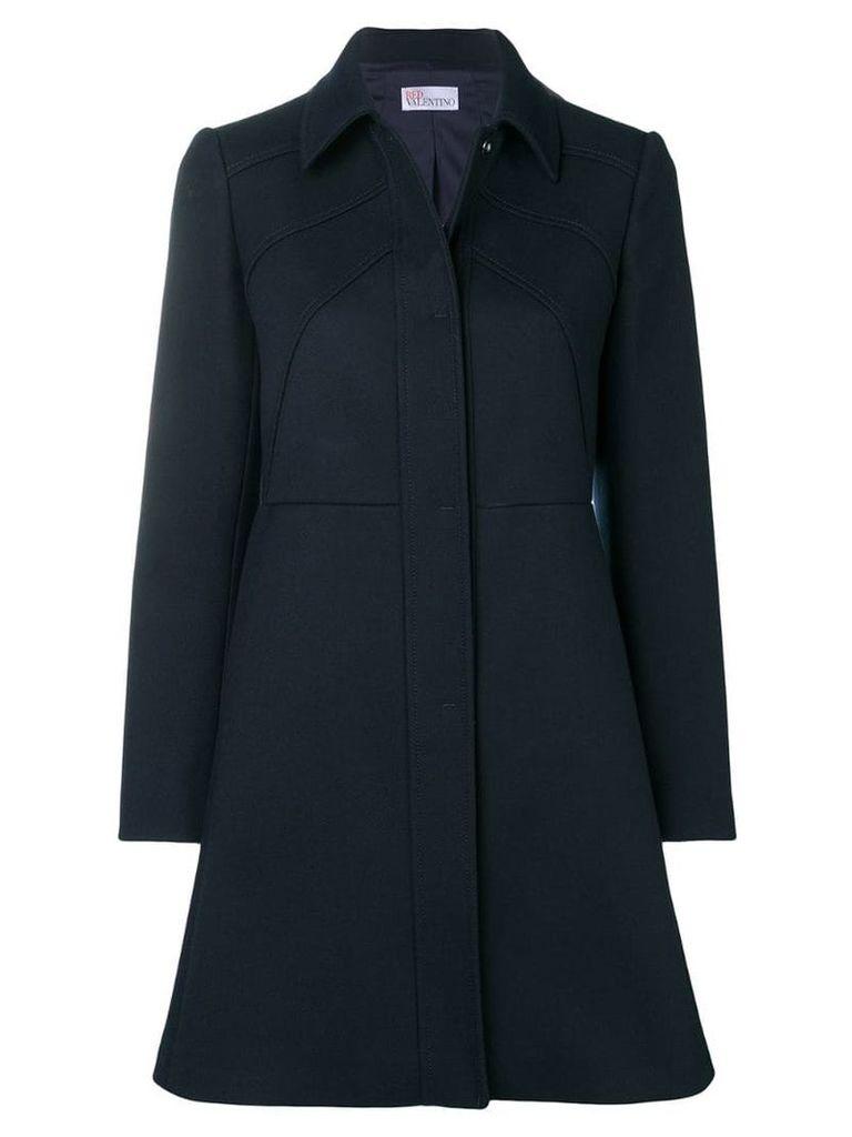 Red Valentino raised seam coat - Blue