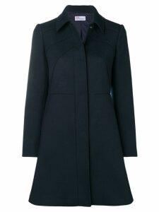 Red Valentino raised seam coat - Blue