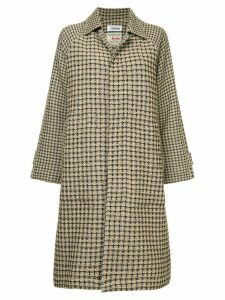 COOHEM checked tweed coat - Brown