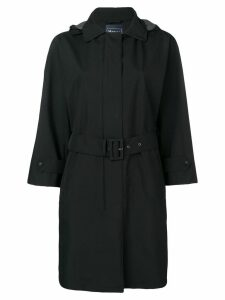 Herno hooded belted coat - Black