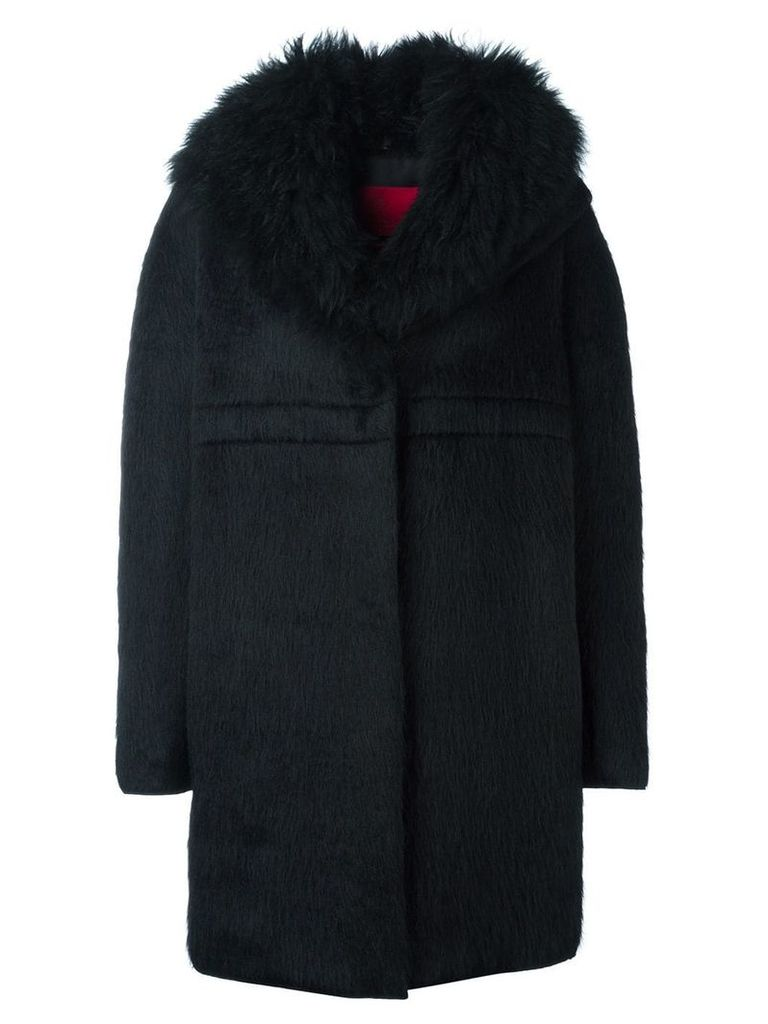 Moncler long sleeve cocoon coat - Black