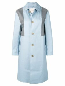 Mackintosh Placid Blue & Top Grey Bonded Cotton Coat LR-089/CB