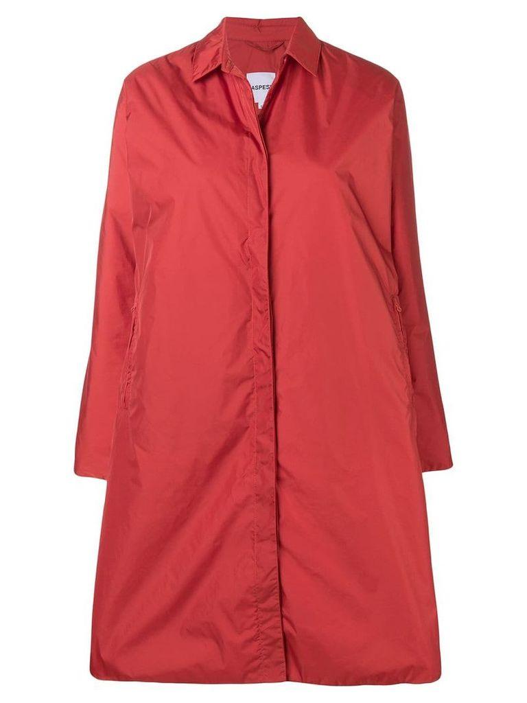 Aspesi single breasted coat - Orange