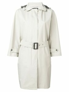 Herno belted hooded coat - Neutrals