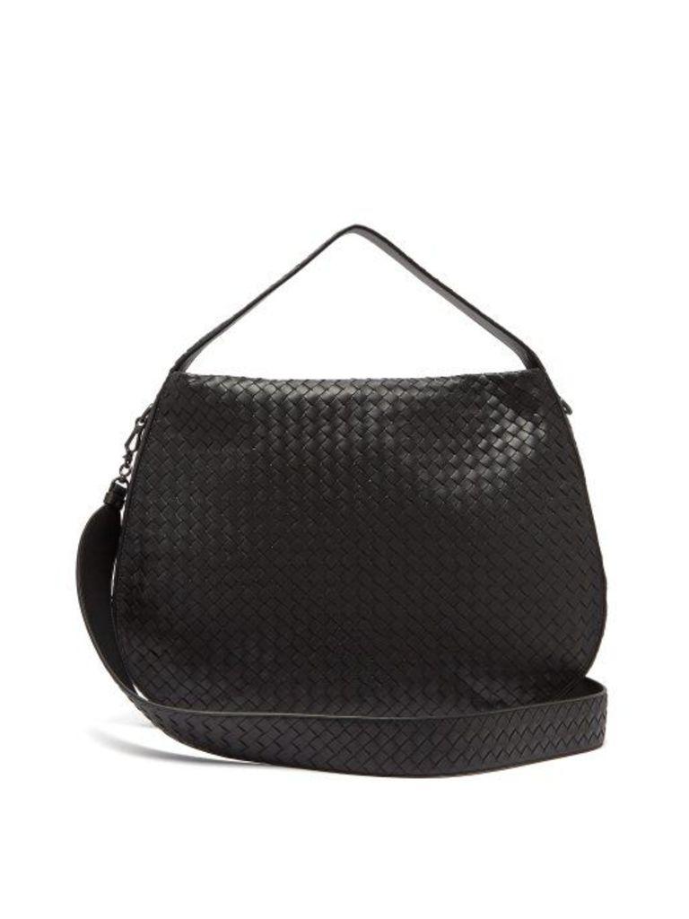 Bottega Veneta - City Veneta Intrecciato Leather Bag - Womens - Black