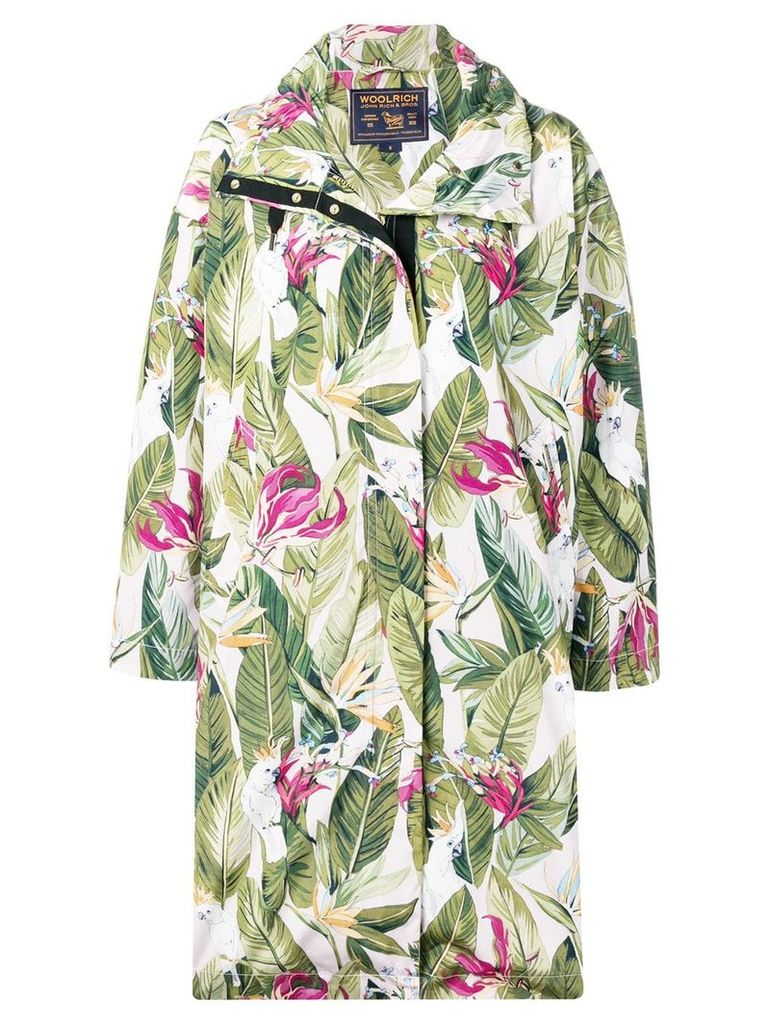 Woolrich leaf print coat - Green
