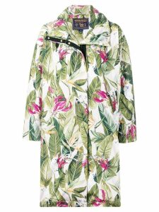 Woolrich leaf print coat - Green