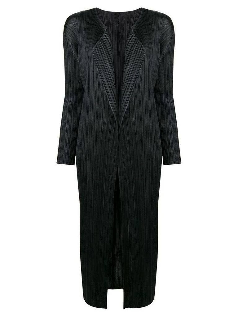 Pleats Please By Issey Miyake pleats please long coat - Black