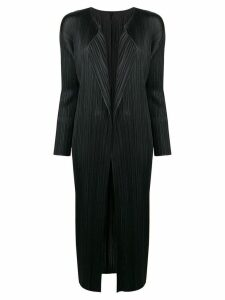 Pleats Please By Issey Miyake pleats please long coat - Black