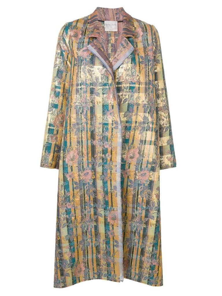 Forte Forte jacquard single-breasted coat - Yellow
