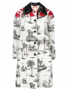 Nº21 palm trees coat - White