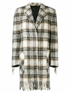 Calvin Klein 205W39nyc checked coat - Neutrals