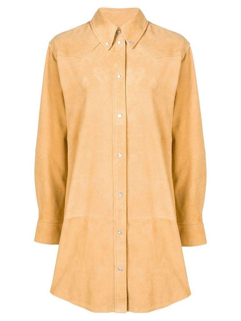 Isabel Marant Étoile oversized shirt coat - Yellow