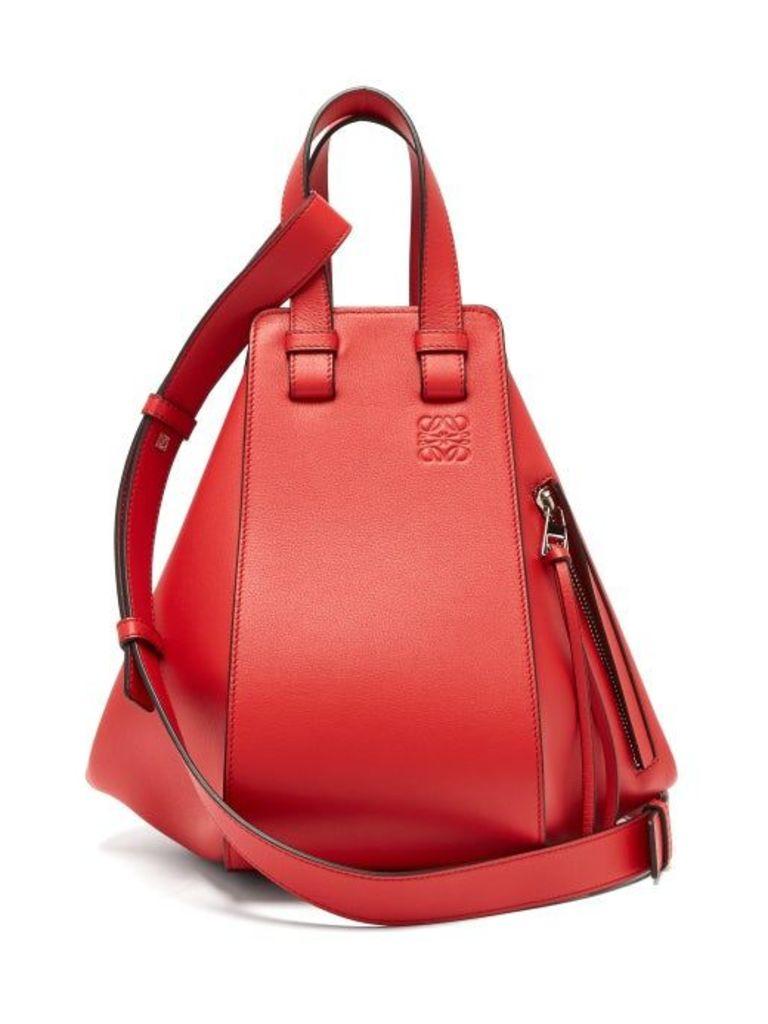 Loewe - Hammock Small Leather Tote Bag - Womens - Red