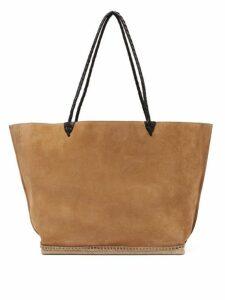 Altuzarra - Espadrille Large Suede Tote Bag - Womens - Tan