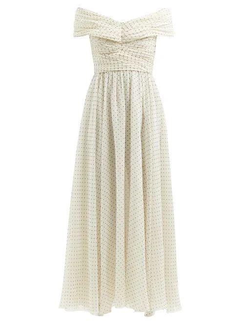 Emilia Wickstead - Python Print High Rise Linen Maxi Skirt - Womens - Pink Print