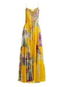 Camilla - Golden Years Silk Maxi Dress - Womens - Yellow Multi
