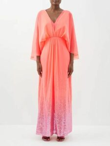 Zeus + Dione - Artemis One Shoulder Silk Blend Gown - Womens - Navy