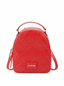 Logo Embossed Backpack