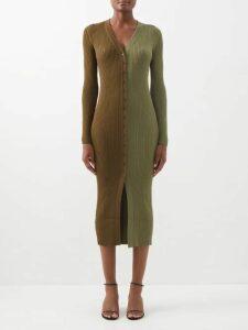 Love Binetti - Fernando Striped Cotton Shirtdress - Womens - Blue Stripe