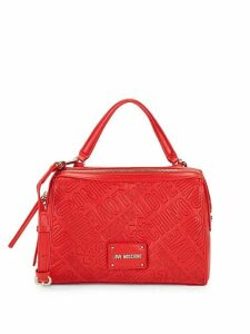 Logo Embossed Satchel