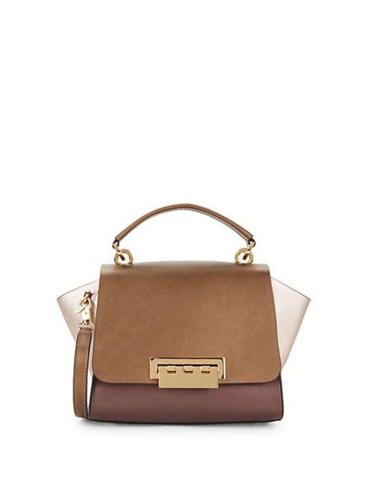 Eartha Colorblock Leather Top Handle Crossbody Bag