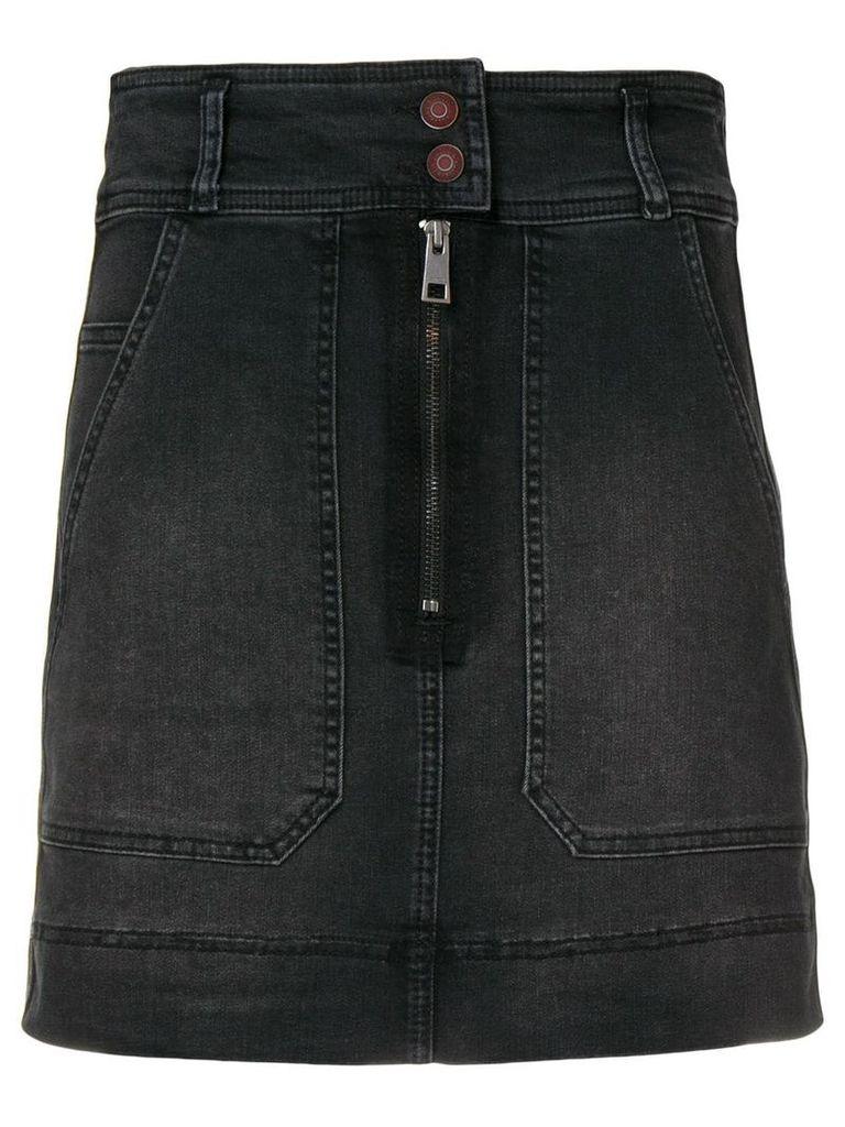 Zadig & Voltaire jima jupe denim skirt - Black
