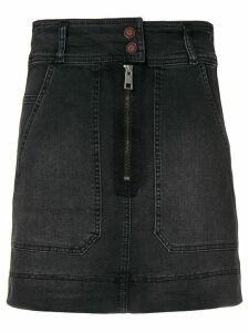 Zadig & Voltaire jima jupe denim skirt - Black