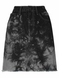 Proenza Schouler PSWL Silverlake Denim Mini Skirt - Grey