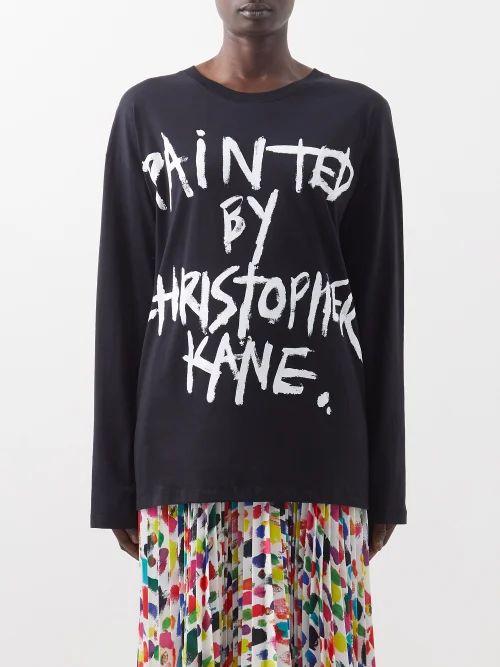 The Row - Carla Long Sleeved Twill Shirt - Womens - Black