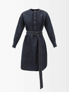 The Row - Carla Long Sleeved Twill Shirt - Womens - Black