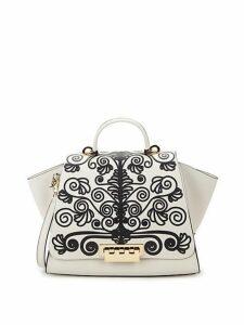 Eartha Printed Leather Top Handle Bag